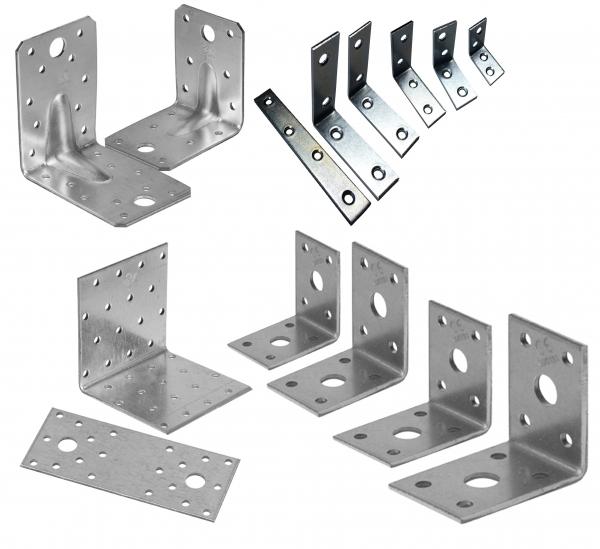 Holz- und Winkelverbinderset, bestehend aus 14 Artikeln / 296 Teilen = 26 Pack in einem Karton