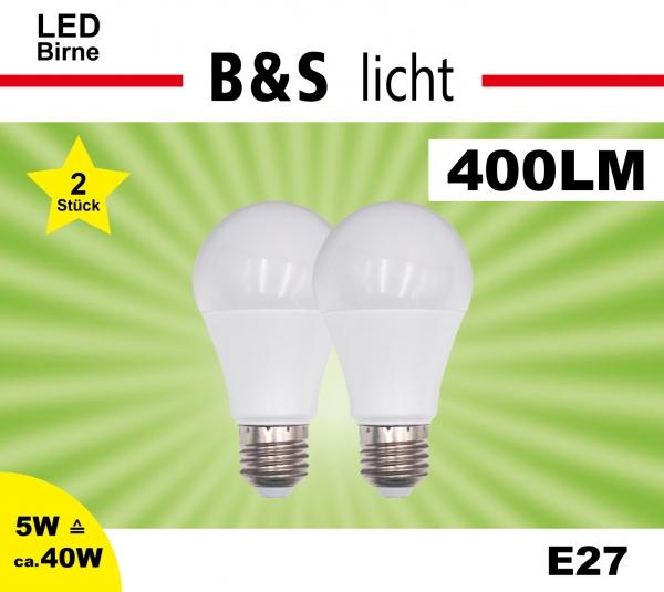 LED Birne im Doppelpack A60 5W 400 lm