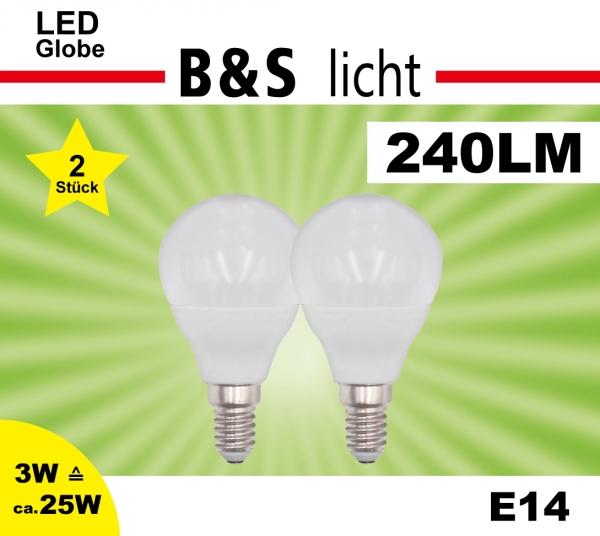 LED Mini Globe im Doppelpack G45 3W 240 lm