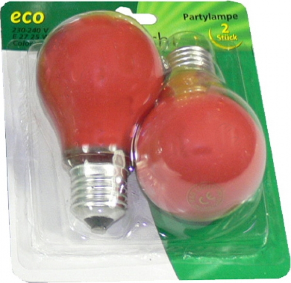 Partylampe Rot